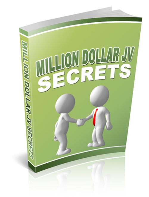 Product picture Million Dollar Joint Venture Secrets